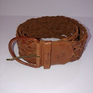 Abercrombie & Fitch Braided Wide Leather Belt